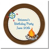 Scavenger Hunt - Round Personalized Birthday Party Sticker Labels