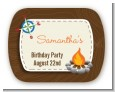 Scavenger Hunt - Personalized Birthday Party Rounded Corner Stickers thumbnail