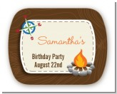 Scavenger Hunt - Personalized Birthday Party Rounded Corner Stickers
