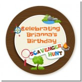 Scavenger Hunt - Personalized Birthday Party Table Confetti