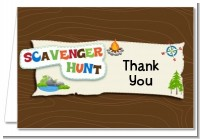 Scavenger Hunt - Birthday Party Thank You Cards