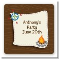 Scavenger Hunt - Square Personalized Birthday Party Sticker Labels thumbnail