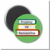 School Books - Personalized School Magnet Favors