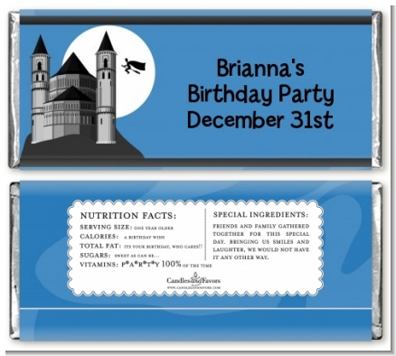 School of Wizardry - Personalized Birthday Party Candy Bar Wrappers