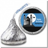School of Wizardry - Hershey Kiss Birthday Party Sticker Labels