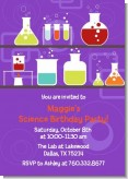 Science Lab - Birthday Party Invitations
