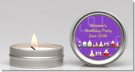 Science Lab - Birthday Party Candle Favors