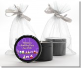 Science Lab - Birthday Party Black Candle Tin Favors