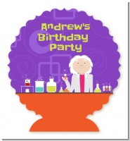 Mad Scientist - Personalized Birthday Party Centerpiece Stand