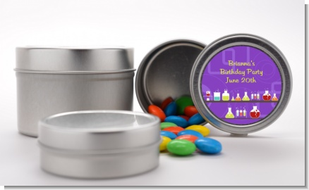 Science Lab - Custom Birthday Party Favor Tins