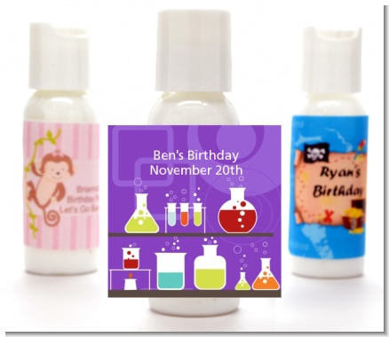 Science Lab - Personalized Birthday Party Lotion Favors