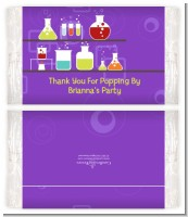 Science Lab - Personalized Popcorn Wrapper Birthday Party Favors