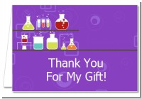 Science Lab - Birthday Party Thank You Cards
