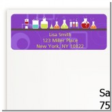 Science Lab - Birthday Party Return Address Labels