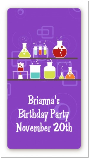 Science Lab - Custom Rectangle Birthday Party Sticker/Labels
