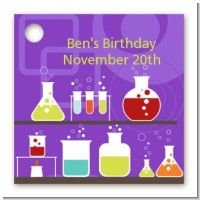 Science Lab - Personalized Birthday Party Card Stock Favor Tags