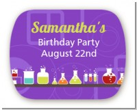 Science Lab - Personalized Birthday Party Rounded Corner Stickers
