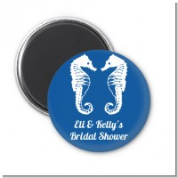Sea Horses - Personalized Bridal Shower Magnet Favors