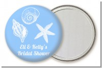 Sea Shells - Personalized Bridal Shower Pocket Mirror Favors