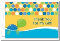 Sea Turtle Boy - Birthday Party Thank You Cards