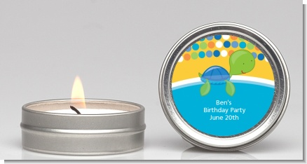 Sea Turtle Boy - Baby Shower Candle Favors
