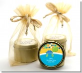 Sea Turtle Boy - Baby Shower Gold Tin Candle Favors