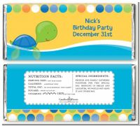 Sea Turtle Boy - Personalized Birthday Party Candy Bar Wrappers