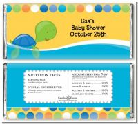 Sea Turtle Boy - Personalized Baby Shower Candy Bar Wrappers