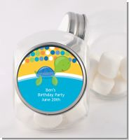 Sea Turtle Boy - Personalized Birthday Party Candy Jar