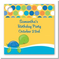 Sea Turtle Boy - Personalized Birthday Party Card Stock Favor Tags