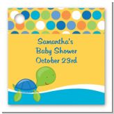 Sea Turtle Boy - Personalized Baby Shower Card Stock Favor Tags