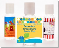 Sea Turtle Boy - Personalized Baby Shower Hand Sanitizers Favors