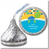 Sea Turtle Boy - Hershey Kiss Baby Shower Sticker Labels