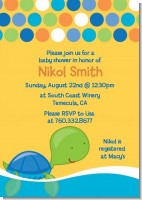 Sea Turtle Boy - Baby Shower Invitations