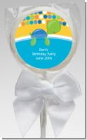Sea Turtle Boy - Personalized Baby Shower Lollipop Favors