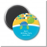 Sea Turtle Boy - Personalized Baby Shower Magnet Favors