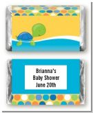 Sea Turtle Boy - Personalized Baby Shower Mini Candy Bar Wrappers