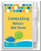 Sea Turtle Boy - Baby Shower Personalized Notebook Favor