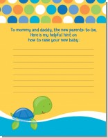 Sea Turtle Boy - Baby Shower Notes of Advice