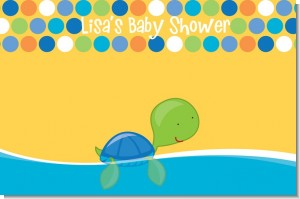 Sea Turtle Boy - Personalized Baby Shower Placemats