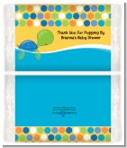 Sea Turtle Boy - Personalized Popcorn Wrapper Baby Shower Favors
