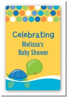 Sea Turtle Boy - Custom Large Rectangle Baby Shower Sticker/Labels