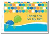 Sea Turtle Boy - Baby Shower Thank You Cards