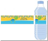 Sea Turtle Boy - Personalized Birthday Party Water Bottle Labels