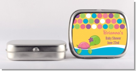 Sea Turtle Girl - Personalized Baby Shower Mint Tins