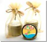 Sea Turtle Girl - Birthday Party Gold Tin Candle Favors