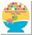 Sea Turtle Girl - Personalized Baby Shower Centerpiece Stand thumbnail