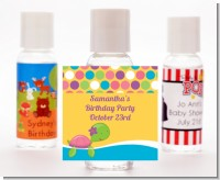 Sea Turtle Girl - Personalized Baby Shower Hand Sanitizers Favors