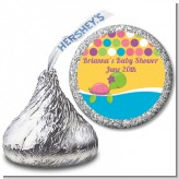 Sea Turtle Girl - Hershey Kiss Birthday Party Sticker Labels