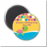 Sea Turtle Girl - Personalized Baby Shower Magnet Favors